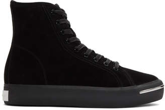 Alexander Wang Black Suede Pia High Sneakers