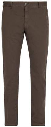 J.w.brine J.W. Brine J.w. Brine - Owen Cotton Blend Chino Trousers - Mens - Charcoal