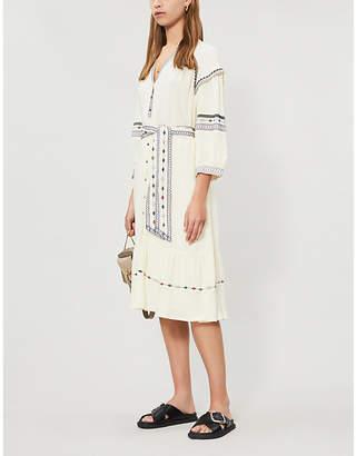 BA&SH Patty embroidered woven dress