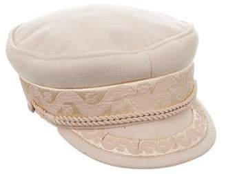 LACK OF COLOR Embroidered Newsboy Cap
