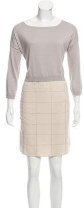 Fabiana Filippi Silk-Blend Embellished Dress