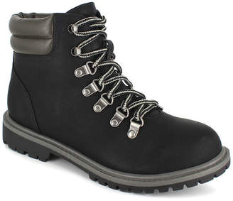 UNIONBAY Womens Gladys Lace Up Work Boots Flat Heel