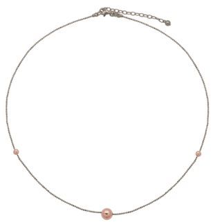 Lord & Taylor 18Kt. Rose Gold & Sterling Silver Necklace