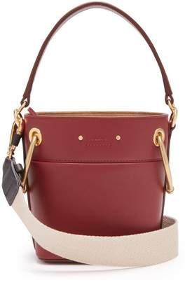 Chloé Roy Small Leather Bucket Bag - Womens - Burgundy