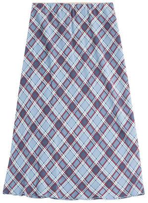 Marc Jacobs Printed Silk Midi Skirt