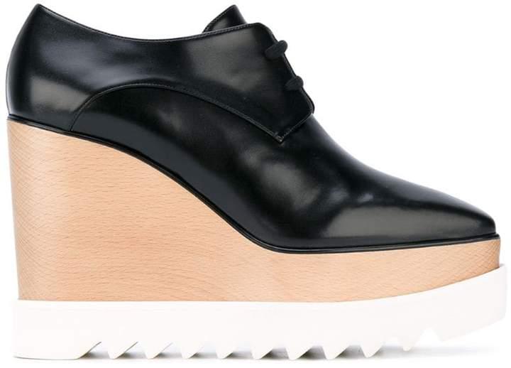 Stella McCartney Black Elyse Platform Shoes