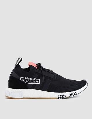 adidas NMD_Racer PK Sneaker in Black/Black/Bluebird