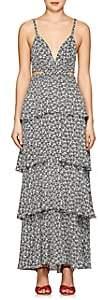 A.L.C. Women's Titus Floral Silk Maxi Dress - Ivorybone