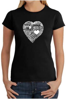 LOS ANGELES POP ART Los Angeles Pop Art Love In 44 Different Languages Graphic T-Shirt