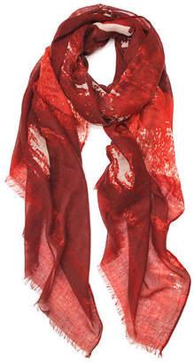 Elizabeth Gillett Chalk Print Cashmere Gauze Wrap