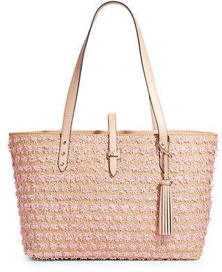 Karl Lagerfeld PARIS Toby Striped Leather Tote