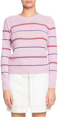 Etoile Isabel Marant Gian Striped Alpaca-Blend Crewneck Sweater