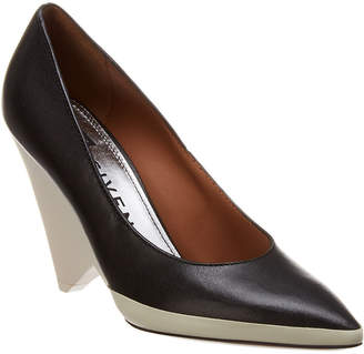 Givenchy Cone Heel Leather & Rubber Pump