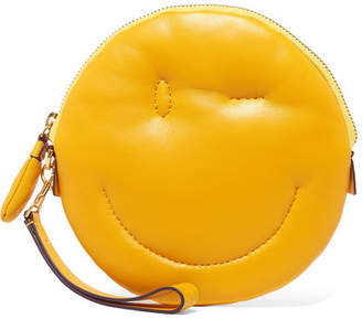 Anya Hindmarch Chubby Wink Quilted Textured-leather Clutch - Yellow