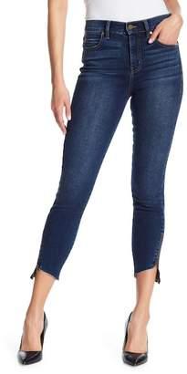 Level 99 Ellie Uneven Zip Hem Jeans