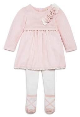 Miniclasix Girls' Rosette Detail Sweater Dress & Leggings Set - Baby