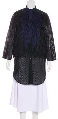 Sacai Embellished Button-Up Coat