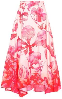 Peter Pilotto Printed cotton midi skirt