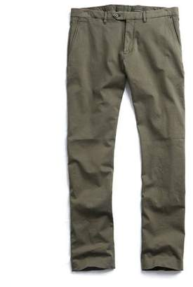 Todd Snyder Extra Slim Fit Tab Front Stretch Chino in Olive