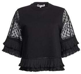 McQ Lace Sleeve T-Shirt