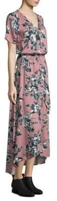 Splendid Floral Wrap Maxi Dress