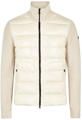 Moncler Off-white Wool And Shell Jacket