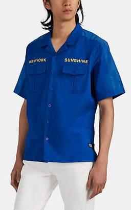"U.P.W.W. Men's ""Install Team"" Cotton Work Shirt - Blue"