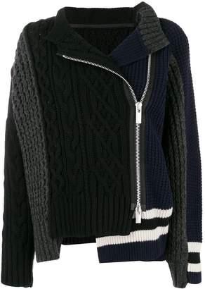 Sacai zipped knit coat