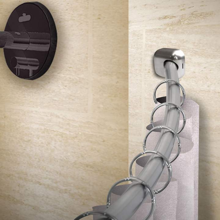 41″-72″ Satin Nickel Shower Curtain Rod