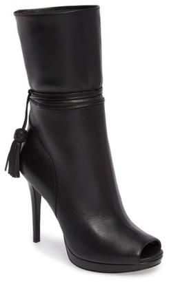 Women's Michael Michael Kors Peep Toe Bootie $234.95 thestylecure.com