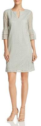 Adrianna Papell Bell-Sleeve Lace Dress