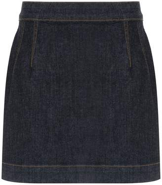 À La Garçonne high waisted denim skirt