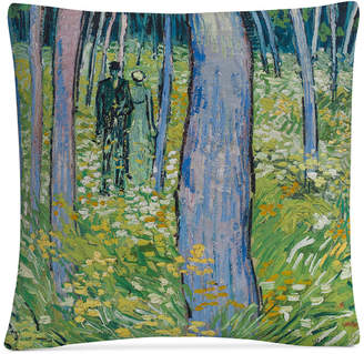 """Trademark Global Van Gogh Undergrowth With Two Figures 16"""" x 16"""" Decorative Throw Pillow"""