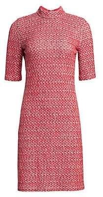 St. John Women's Artisanal Basket Weave Mockneck Dress