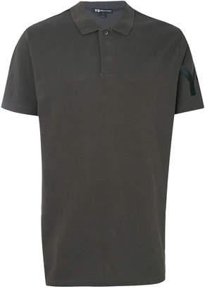 Y-3 short sleeve logo polo shirt