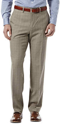 Haggar eCLo Stria Straight-Fit Flat-Front Pants