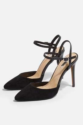 Topshop GENESIS Leather Ankle Strap Shoes