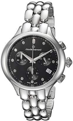 Claude Bernard Women's 'Code Chronograph' Swiss Quartz Stainless Steel and Leather Dress Watch