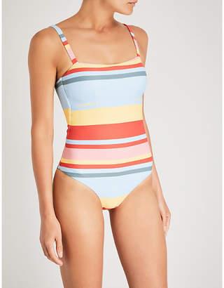 Asceno Striped bandeau swimsuit