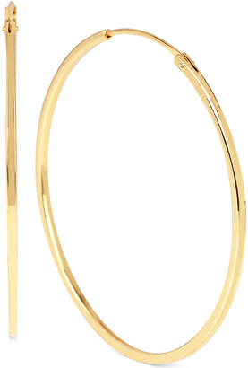 Hint of Gold Hoop Earrings in 14k Gold-Plated Sterling Silver and Brass, 45MM $50 thestylecure.com