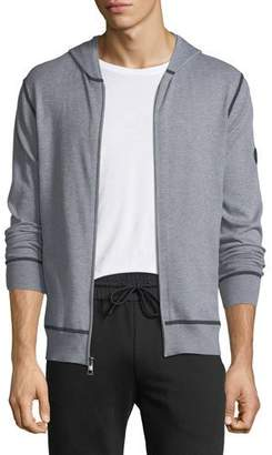 Michael Kors Tubular-Seam Zip-Front Hoodie
