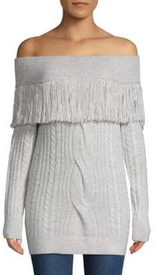 Saks Fifth Avenue Off-The-Shoulder Cable-Knit Sweater