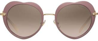 Miu Miu heart-shaped sunglasses
