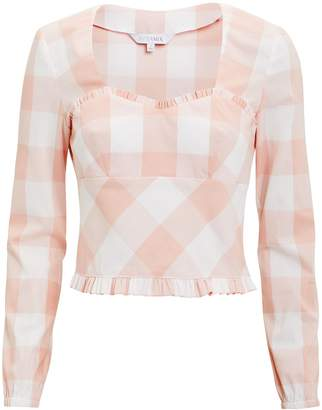 Intermix Stefania Gingham Top
