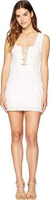 For Love & Lemons Women's Charlotte Eyelet Lace Up Mini Dress