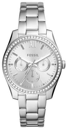 Fossil Multifunction Scarlett Stainless Steel Link Bracelet Watch