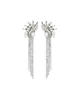 Fragments for Neiman Marcus Crystal Cluster & Fringe Earrings