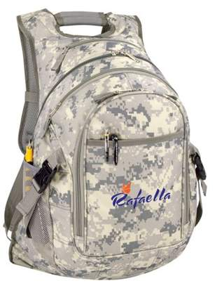 K Cliffs Digital Camo Laptop Backpack Student Military Camouflage Bookbag School Computer Book Bag Travel Tablet Daypack Army ACU Camo