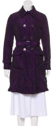 Armani Collezioni Knee-Length Trench Coat