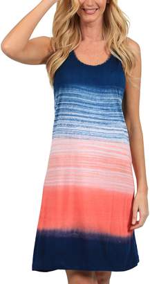 Ingear Tie Dye Racerback Dress Tank Summer Fashion Beachwear Sundress Cover Up